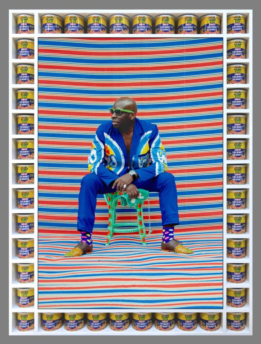 Michael Garnette Sittin' photograph by ©Hassan Hajjaj courtesy of the artist and Vigo Gallery