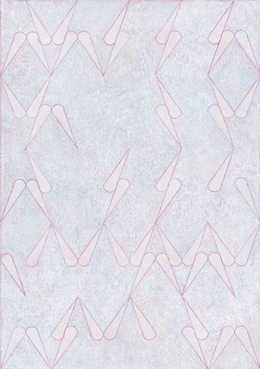 Jinyong Park -Untitled, Acrylic, coloured pencil on paper, 2017, 29.7x21cm