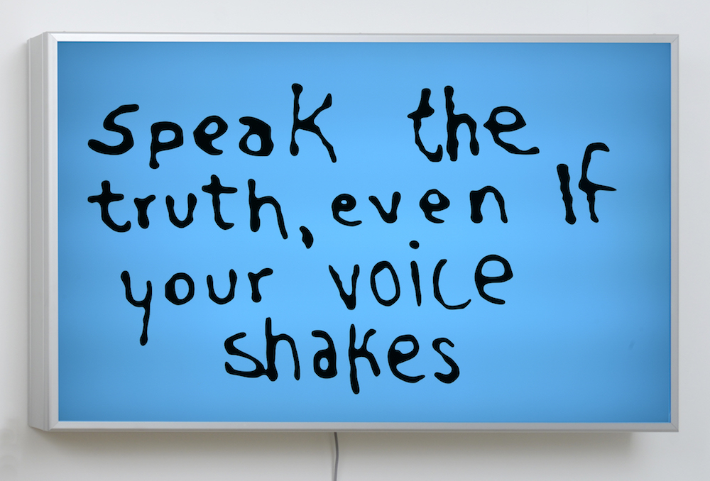 Sam Durant, Speak The Truth Even If Your Voice Shakes, 2015 with Blum & Poe