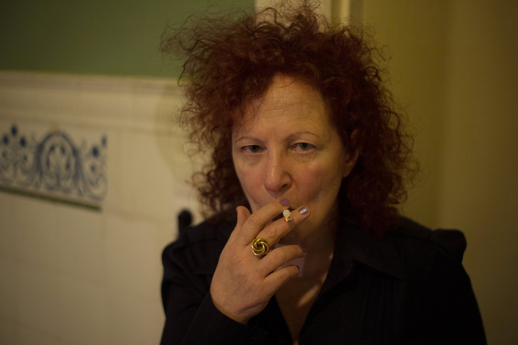Self-Portrait 1st Time on Oxy, Berlin, 2014. © Nan Goldin, via Artforum