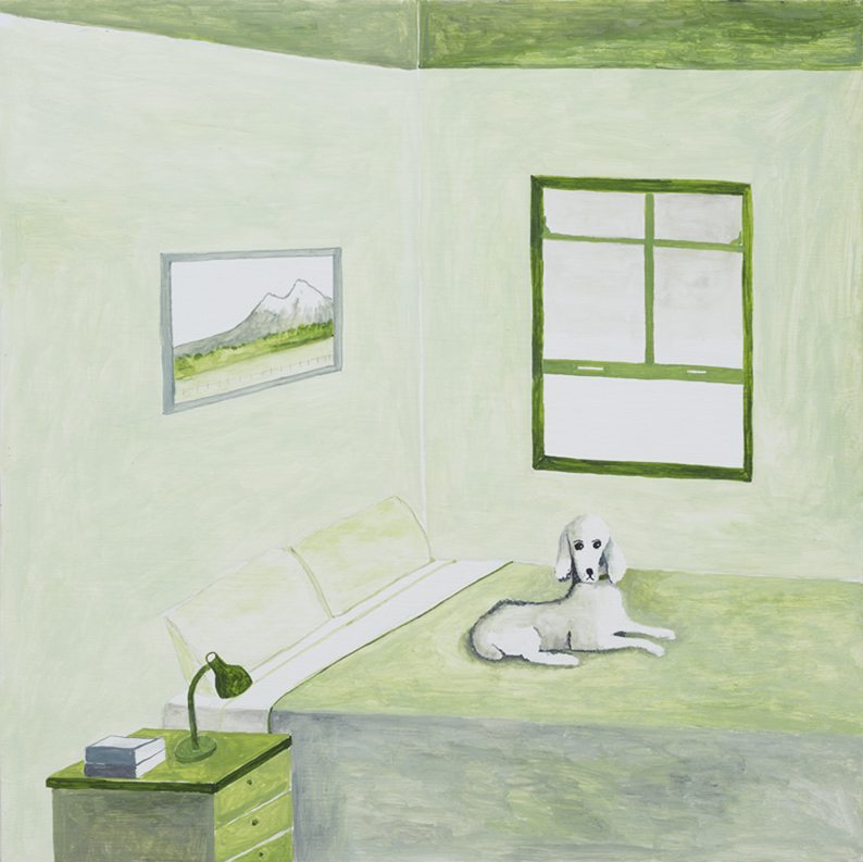 Green Room with Poodle, 2015