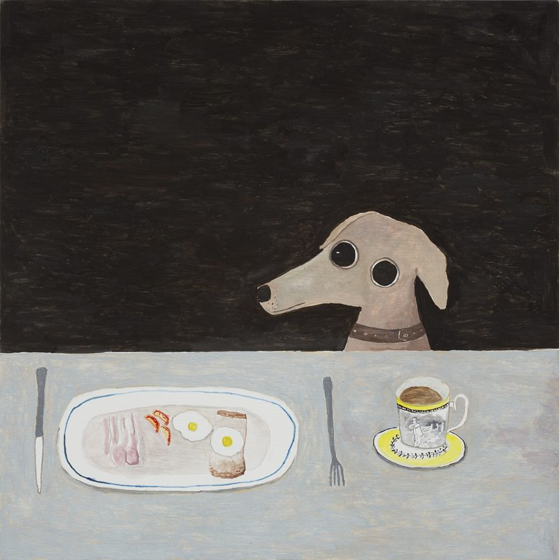 Dog at Breakfast Table, 2014