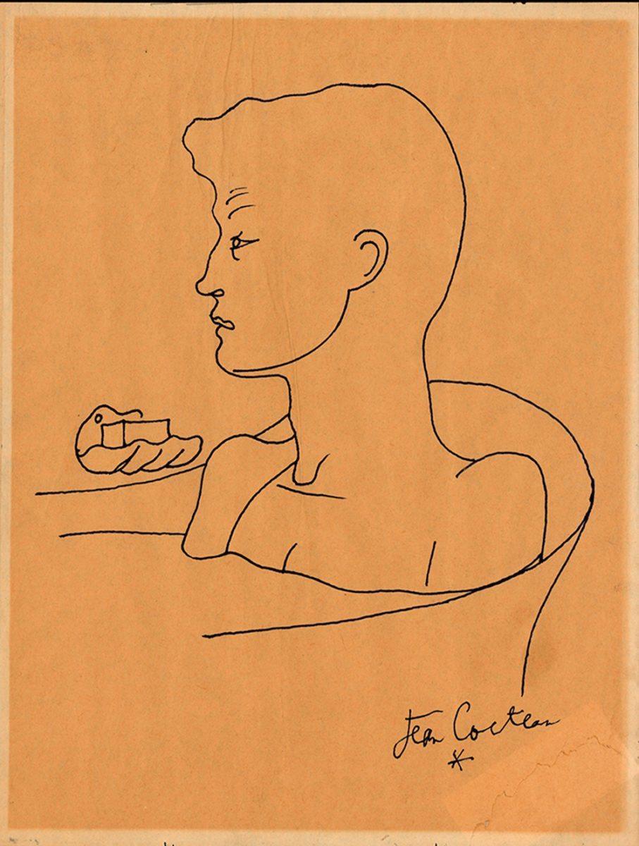 Jean Cocteau, Portrait D'un Jeune Homme Au Tub (Rimbaud)