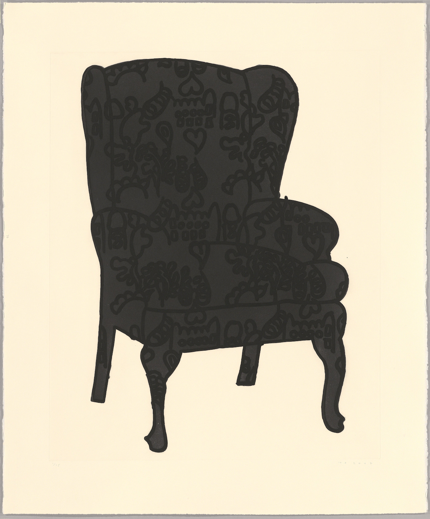 Humphrey Ocean, Black Love Chair, 2006