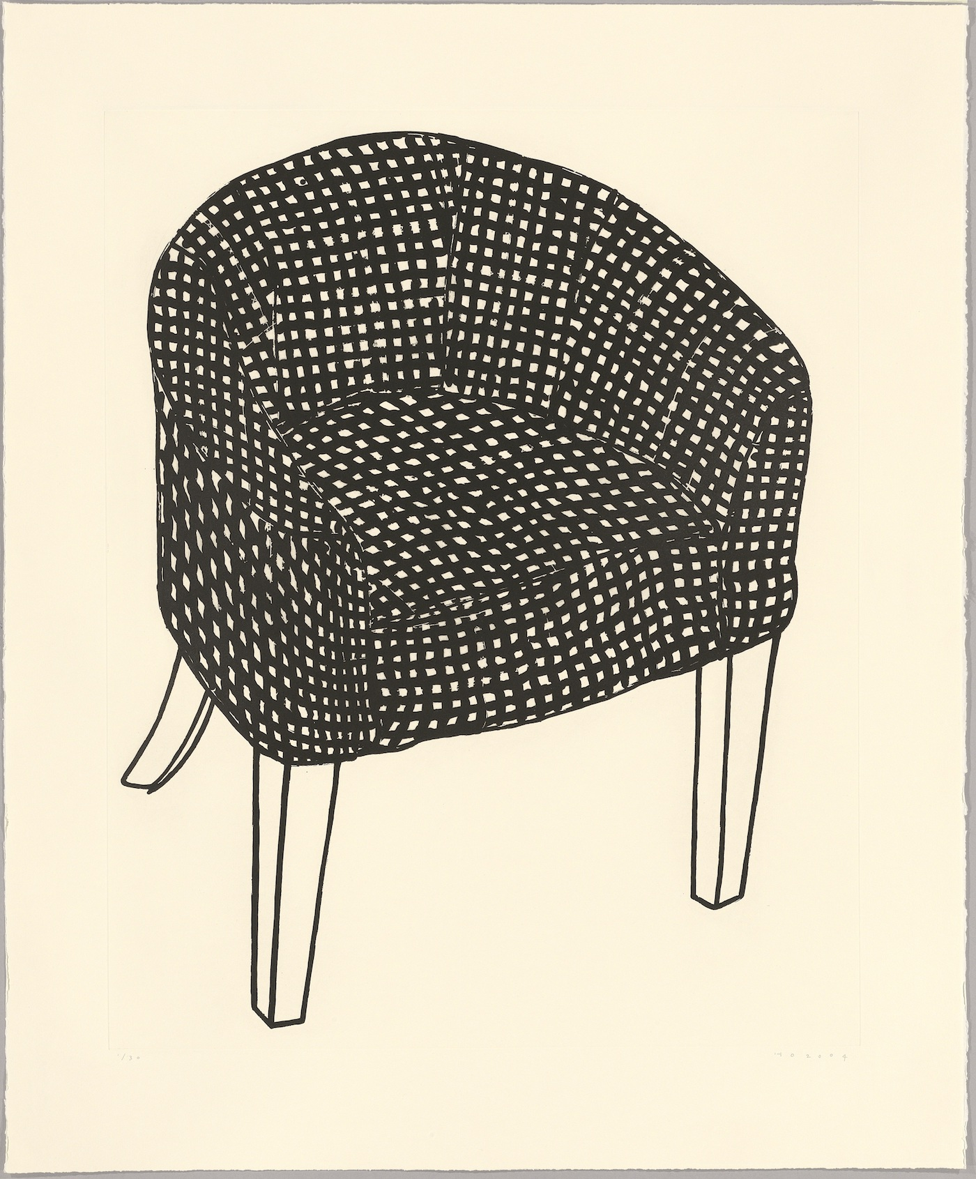 Humphrey Ocean, Fat Check Chair, 2006