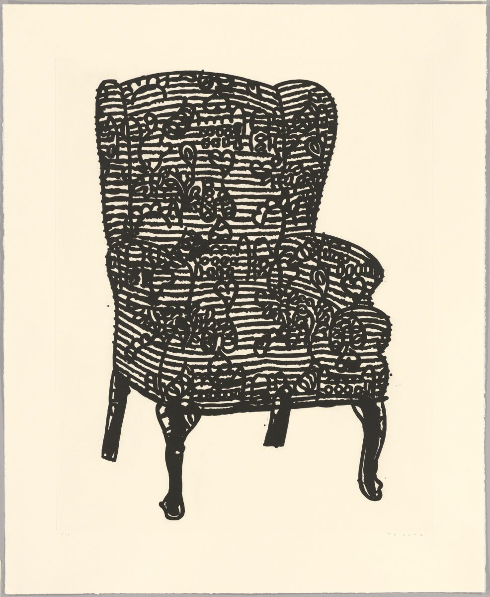 Humphrey Ocean - Stripey Love Chair, 2006