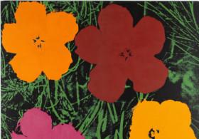 Sturtevant, Warhol Flowers, 1990. Silkscreen, acrylic on canvas. Collection Thaddaeus Ropac, London/Paris/Salzburg