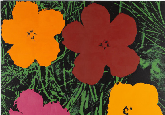 Sturtevant, Warhol Flowers, 1990. Silkscreen, acrylic on canvas. Collection Thaddaeus Ropac, London/Paris/Salzburg