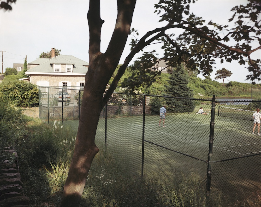 Tina Barney, Landscapes, Tennis Court, 1988