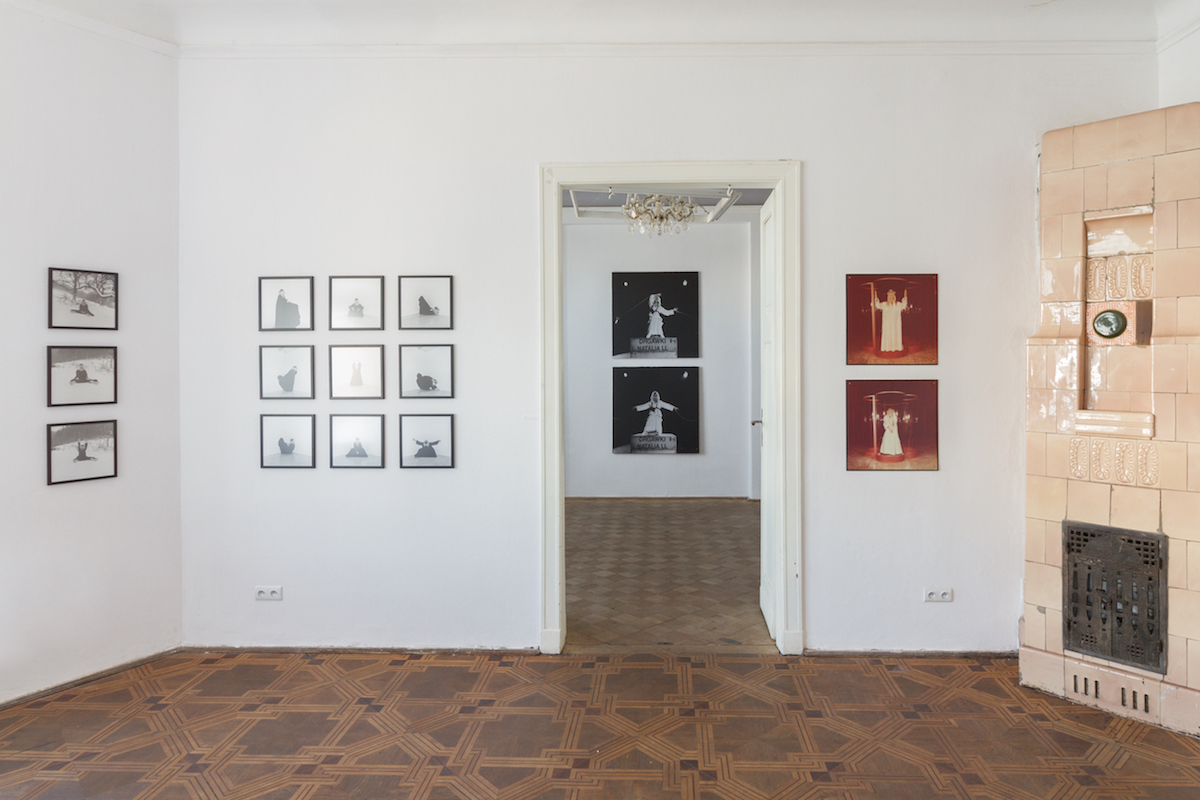 Exhibition view of Zeitgeist: VALIE EXPORT, Natalia LL, Justyna Górowska, Diana Lelonek, at lokal_30, 2017