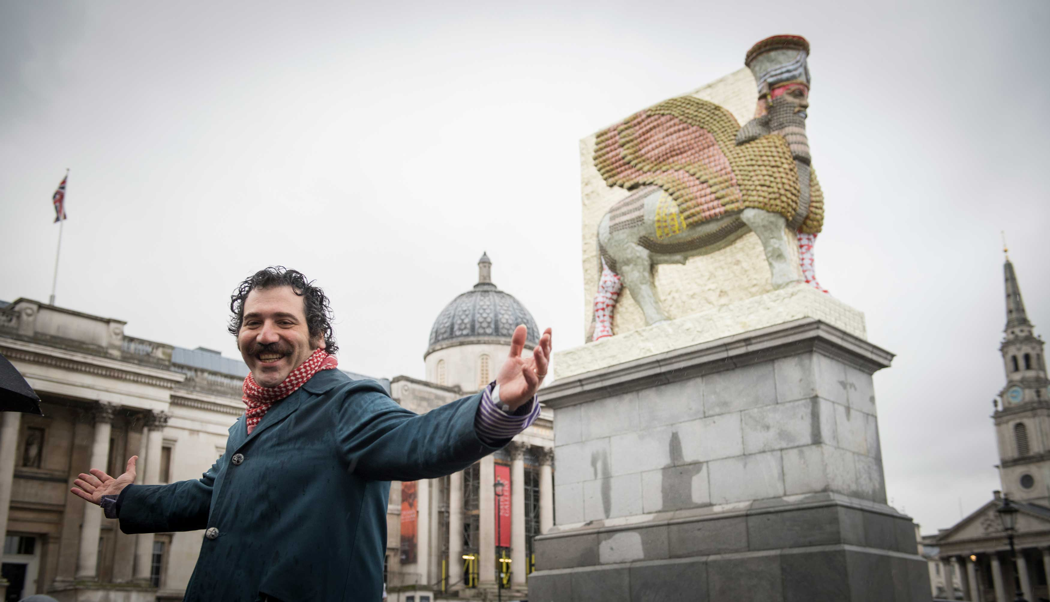 The artist unveils his fourth Plinth commission, photo by Caroline Teo