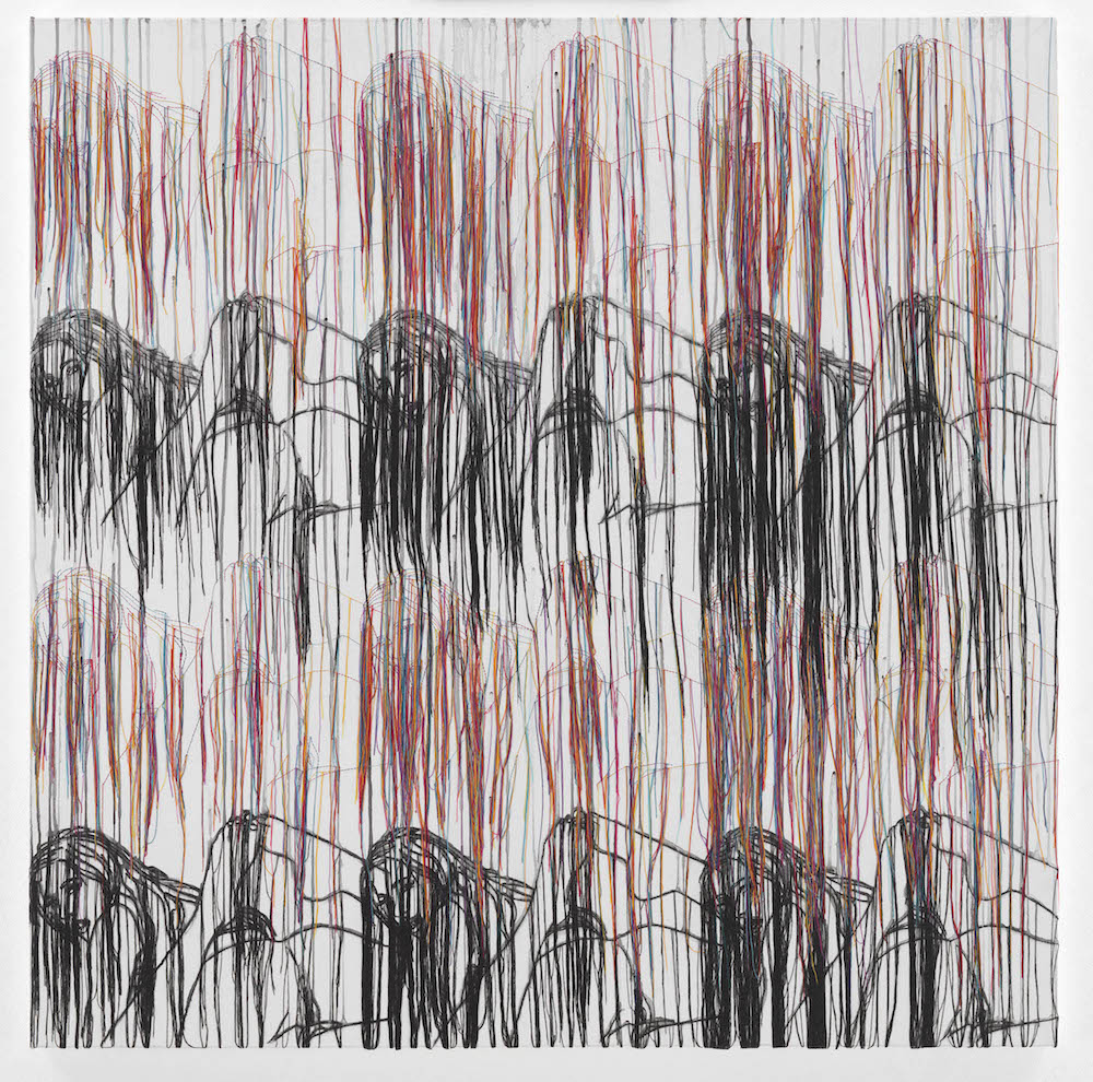 Ghada Amer, Landscape with Black Mountains-RFGA, 2017