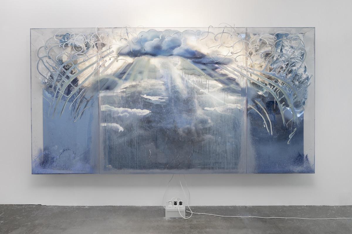 Philipp Fürhofer, Evaporated Blue, 2017. Copyright: the Artist Courtesy Galerie Judin