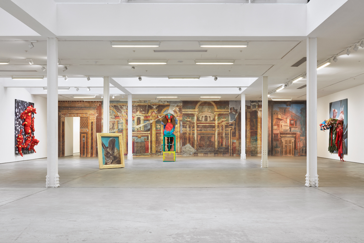 Installation view, Marvin Gaye Chetwynd, Ze & Per, Sadie Coles HQ, London