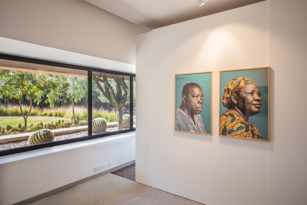 "Installation image of ""Africa Is No Island"" at MACAAL. Photo by Saad Alami. Courtesy of The Museum of African Contemporary Art Al Maaden (MACAAL)."
