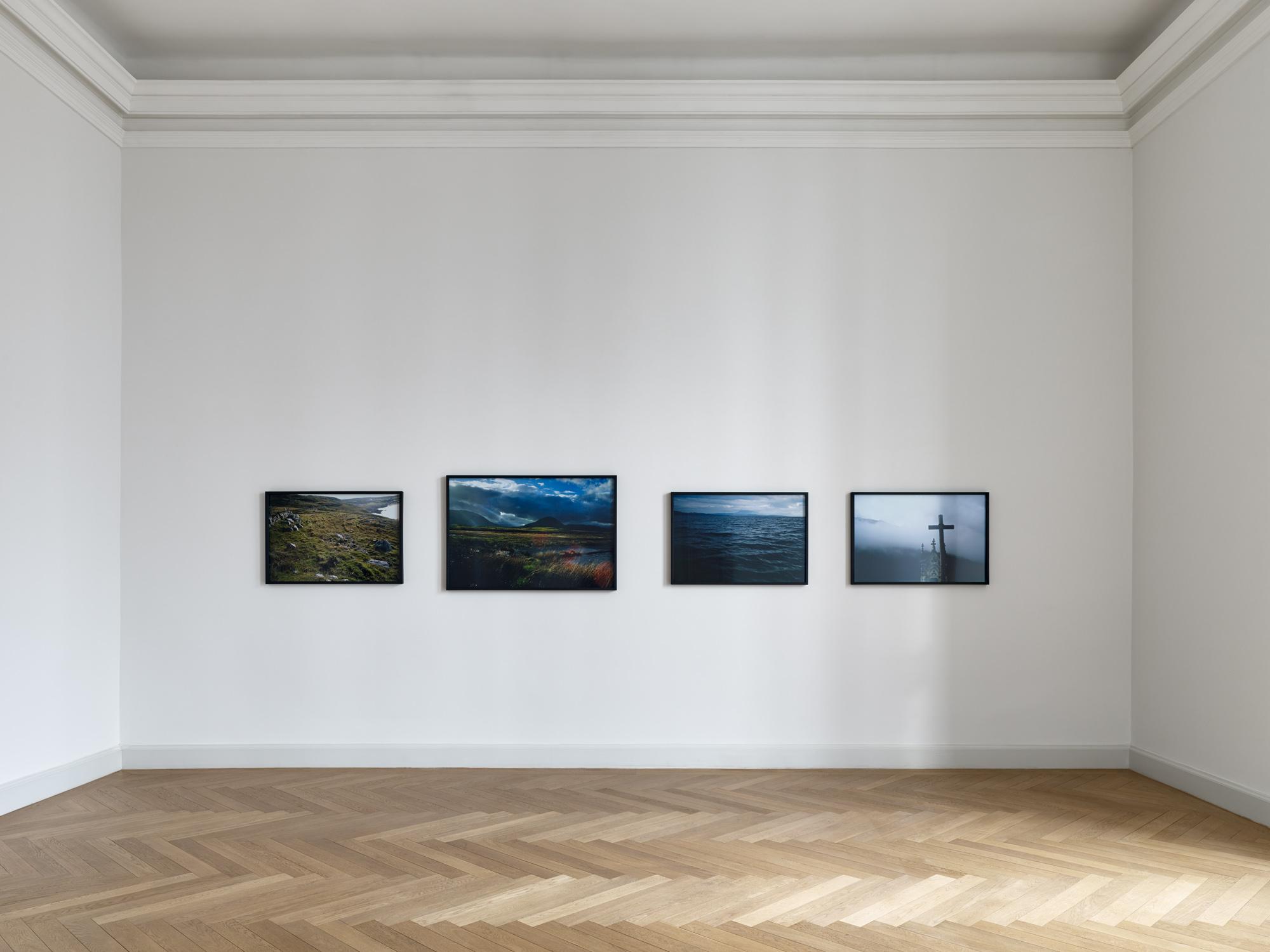 Installation view, Pedro Cabrita Reis, Nan Goldin, Justin Matherly at Galerie Kewenig