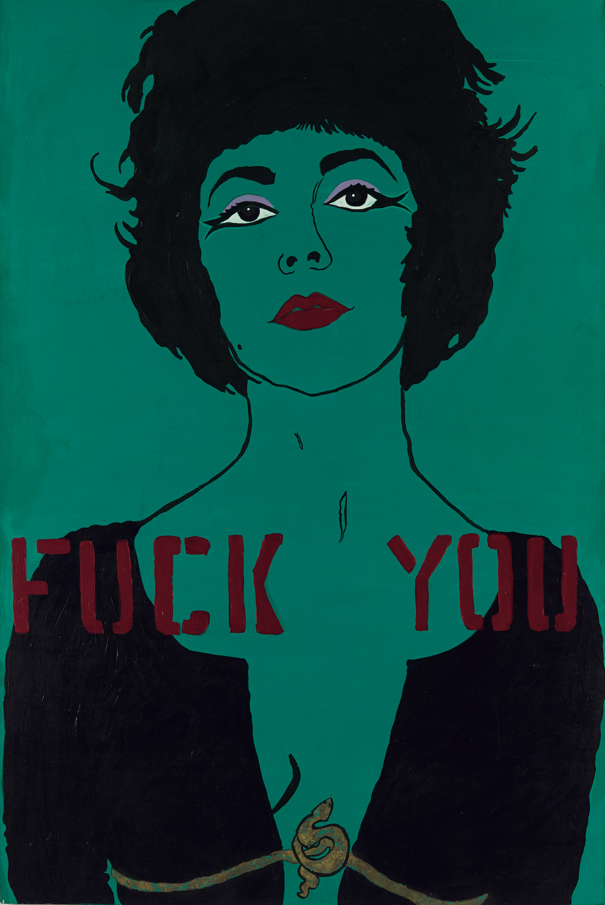 Kathe Burkhart, Fuck You from the Liz Taylor Series Cleopatra, 1984