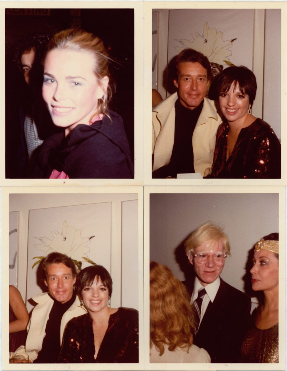 Margaux Hemmingway, Andy Warhol, Liza Minelli, Halston and Ultra Violet, New York, 1977