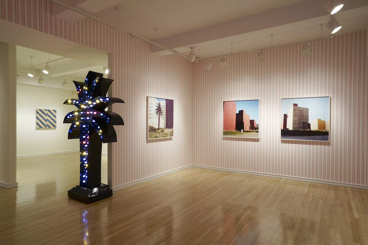 Installation view of Yto Barrada: How to Do Nothing with Nobody All Alone by Yourself. Photography by Tom Barratt, courtesy Pace Gallery