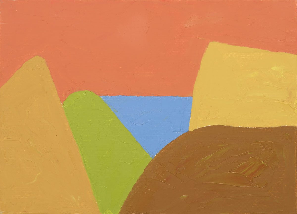 Etel Adnan, Untitled, 2017. Courtesy Galerie Lelong & Co.