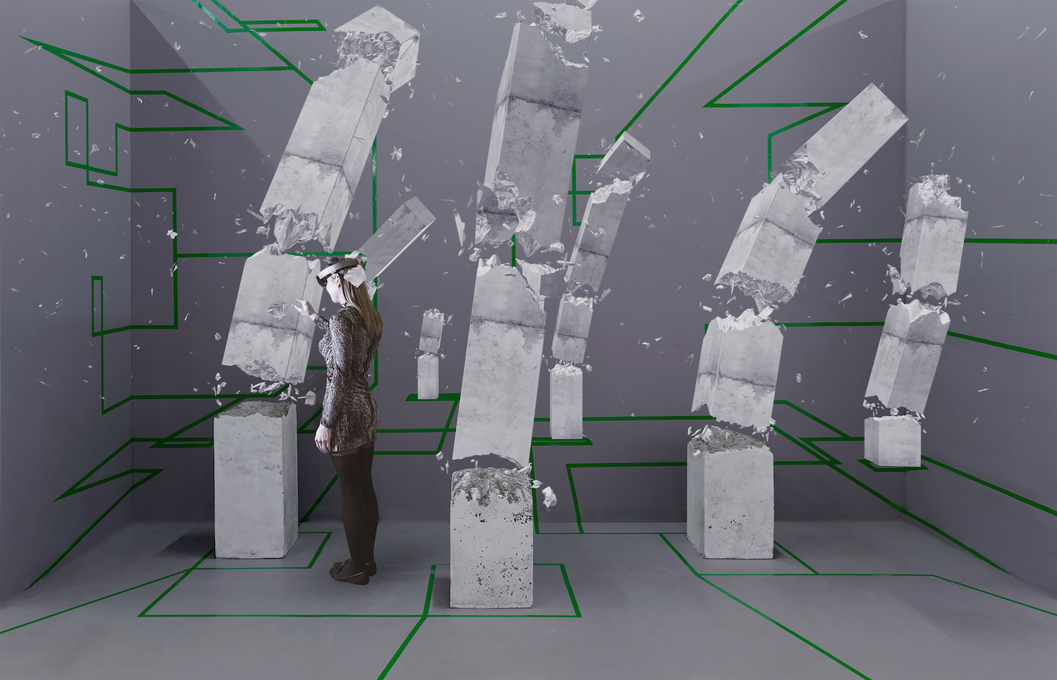 Studio Drift, Concrete Storm, courtesy of Artsy in partnership with Microsoft HoloLens. Photography: Silvia Ros