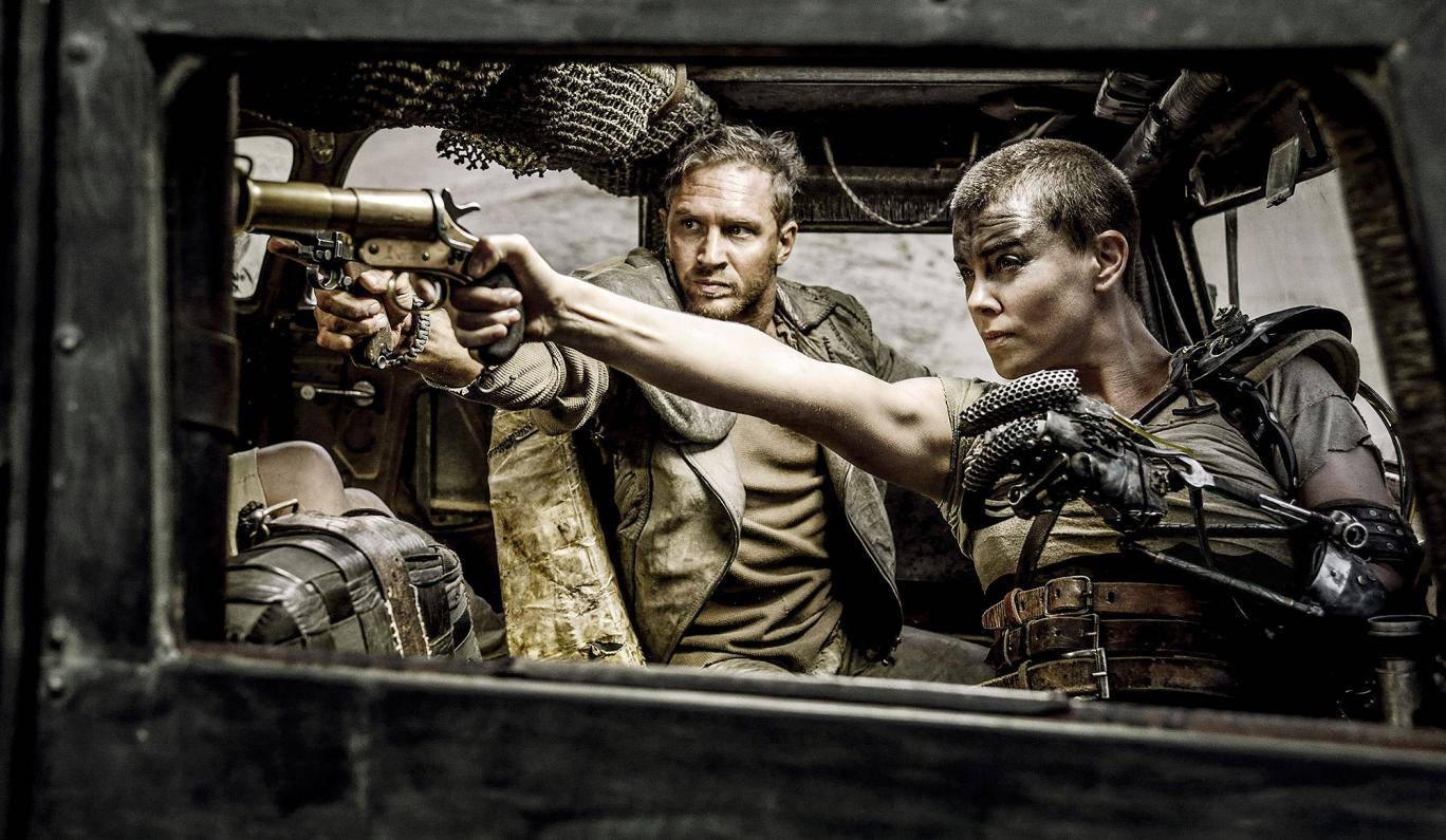 Tom Hardy and Charlize Theron in Mad Max Fury Road, Warner Bros, 2015
