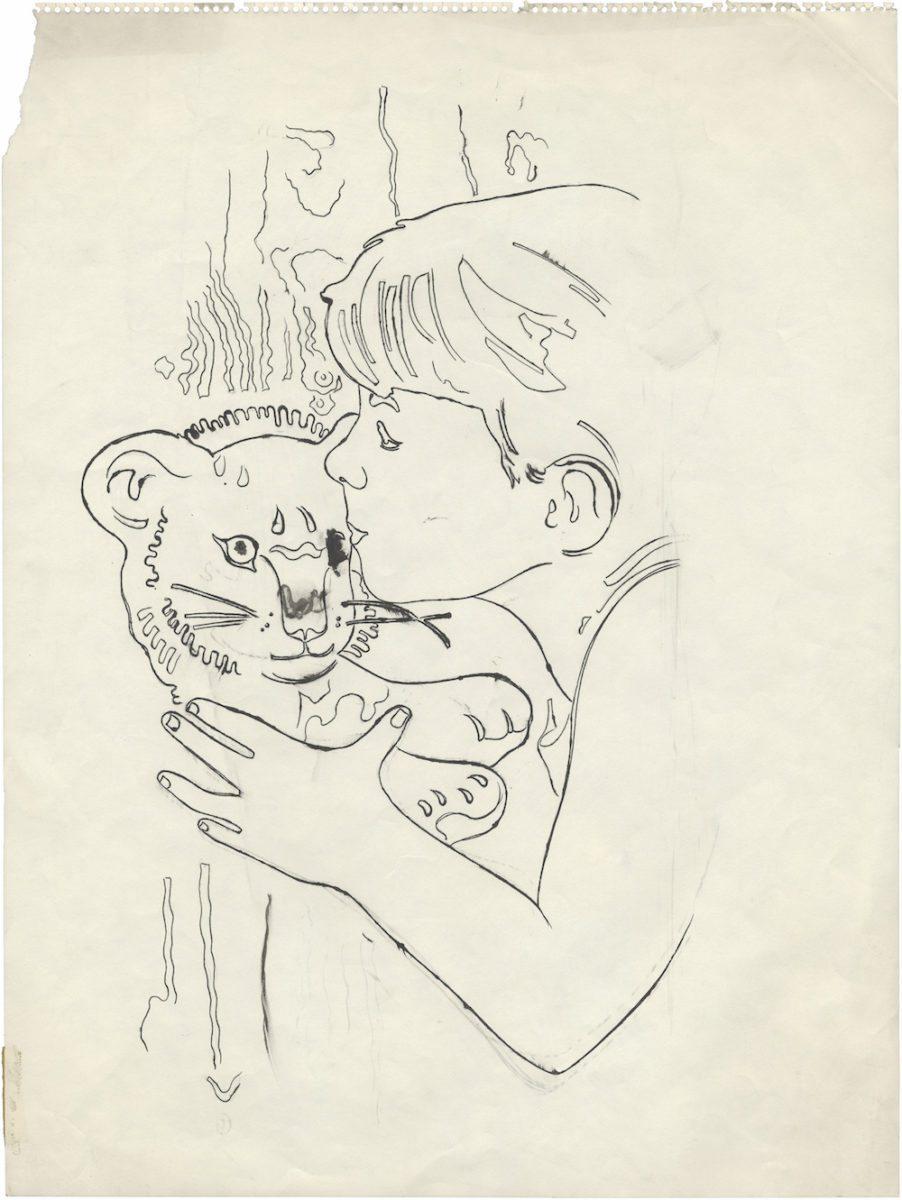 Andy Warhol, N.T. (Boy Kissing Toy Tiger), 1955 with Daniel Blau