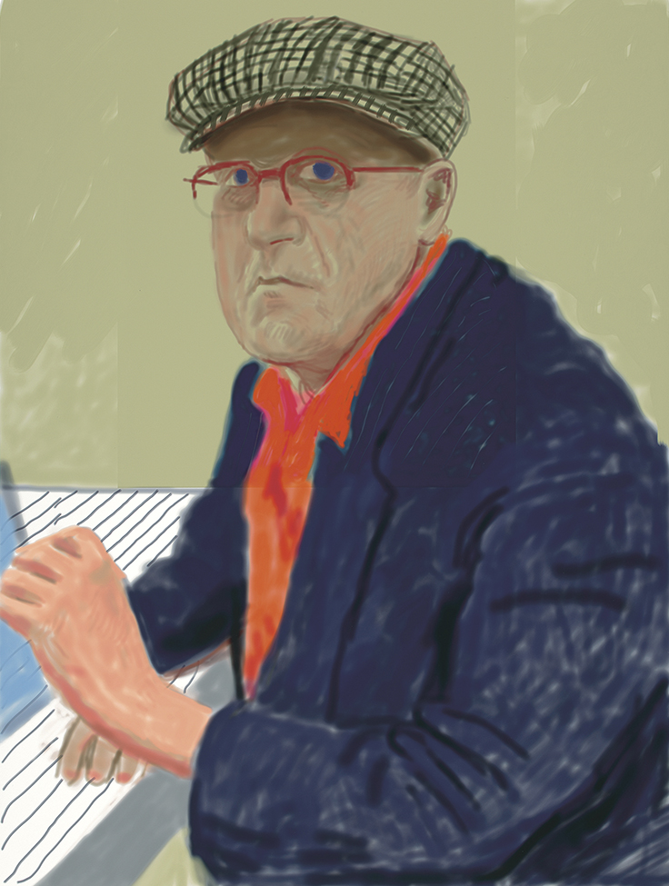 David Hockney, Self Portrait II, 14 March 2012, 2012 with Pace Gallery