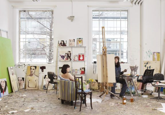 Chantal Joffe's London studio, 2018 Photography © Suki Dhanda