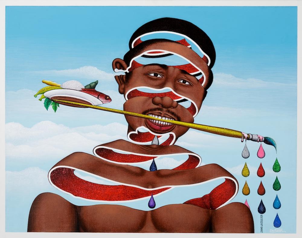 Cheri Samba, J'aime la couleur, 2004. Courtesy galerie MAGNIN-A, Paris