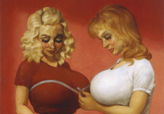 John Currin, The Bra Shop, 1997, © John Currin, courtesy Sadie Coles HQ, London