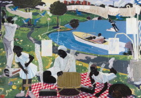 Kerry James Marshall Past Times, Sotheby's sale Puff Daddy Black Painter
