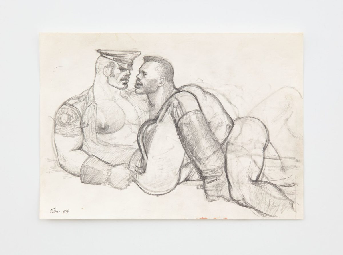 Tom of Finland, Untitled (Preparatory Drawing), 1989 with David Kordansky Gallery