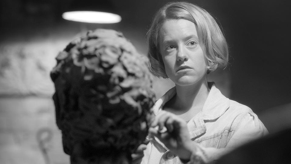 Flora , Teresa Hubbard / Alexander Birchler, black and white film, 57th Venice Biennale 2017, Giacometti