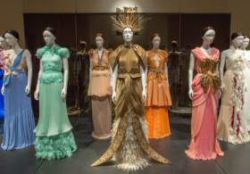Installation view at Heavenly Bodies, courtesy The Metropolitan Museum of Art