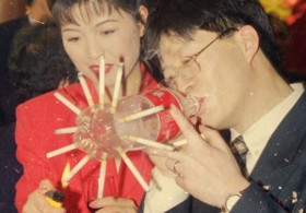 Thomas Sauvin Until Death Do Us Part Smoking at Chinese Weddings Archive Photography Beijing Red China