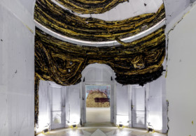 Mark Bradford, Tomorrow Is Another Day, La Biennale di Venezia, US Pavilion, Venice, Italy, 2017. Installation view. Photo: Joshua White. Courtesy the artist and Hauser & Wirth