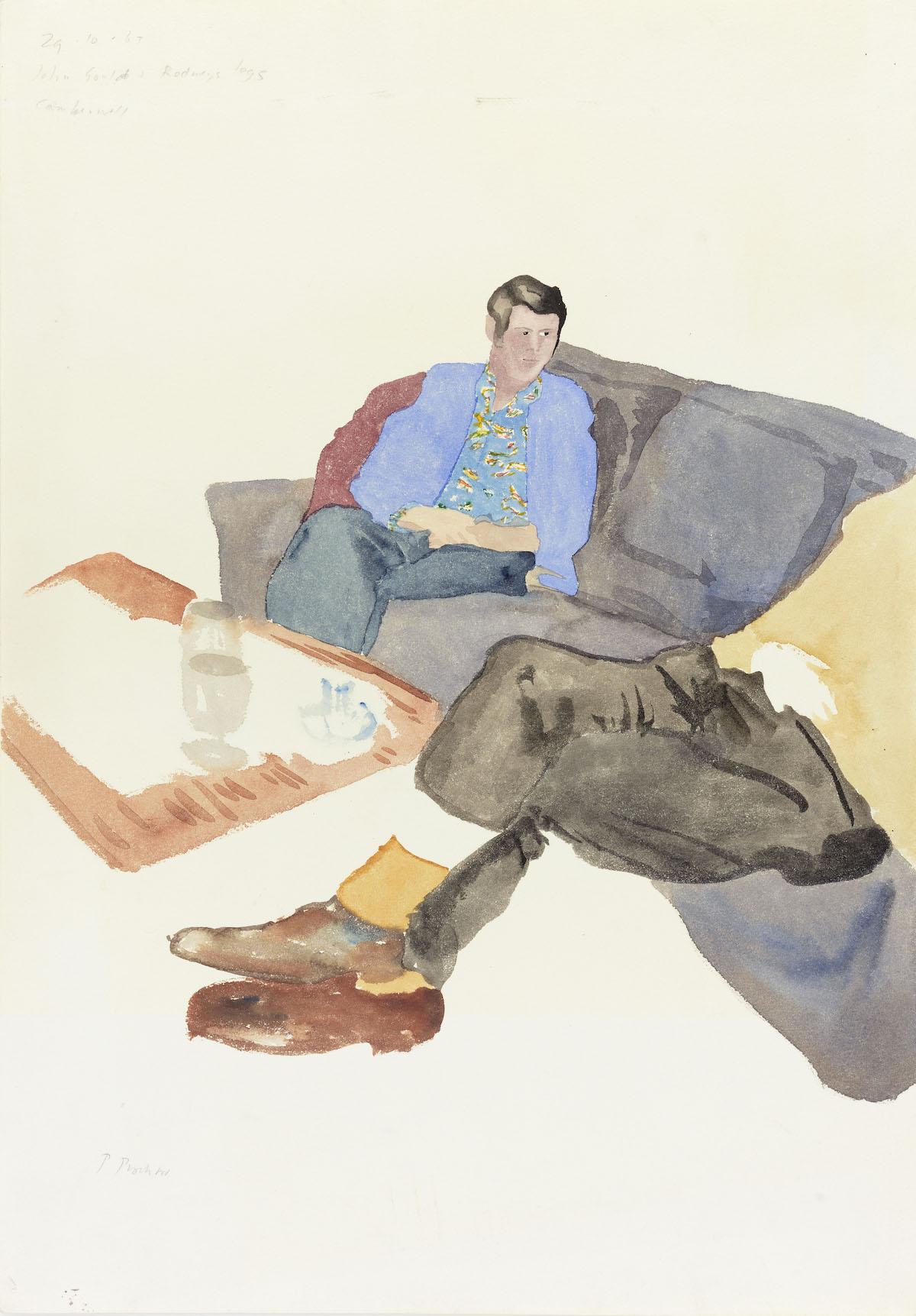 Patrick Procktor, John Gould and Rodney's Legs, Camberwell, 1965