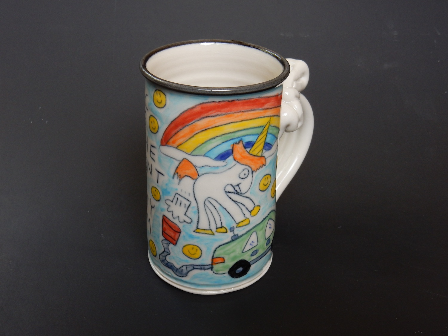 Farting Unicorn mug by Tom Edwards. Courtesy the artist