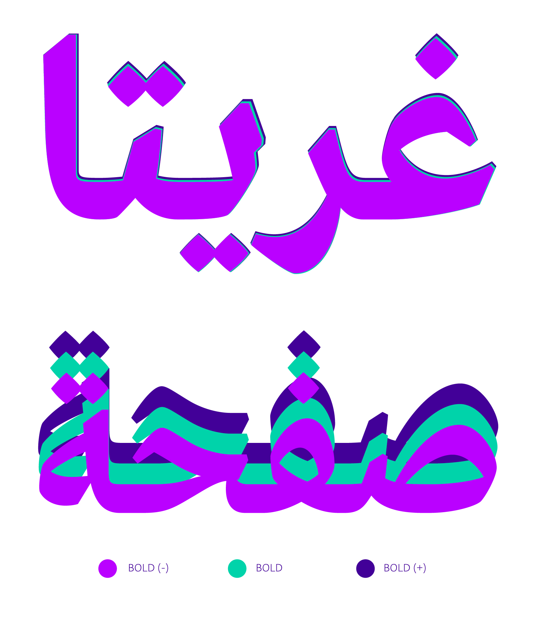 Greta Arabic, concept by Peter Bi'lak, 2012. Designed by Kristyan Sarkis and published in 2015, TPTQ Arabic