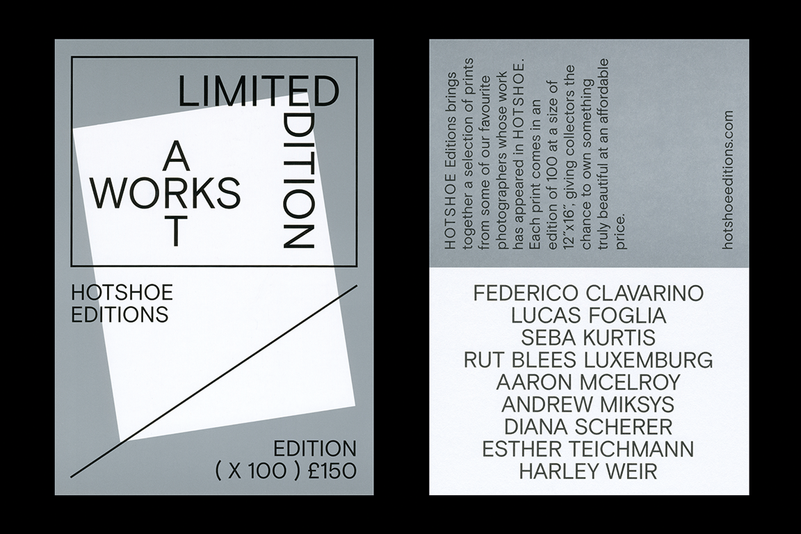Hotshoe Editions, designed by The Entente Colophon Foundry