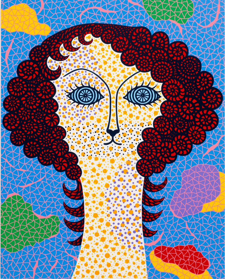 Yayoi Kusama, Self-Portrait Belros, 2010 with Victoria Miro Gallery