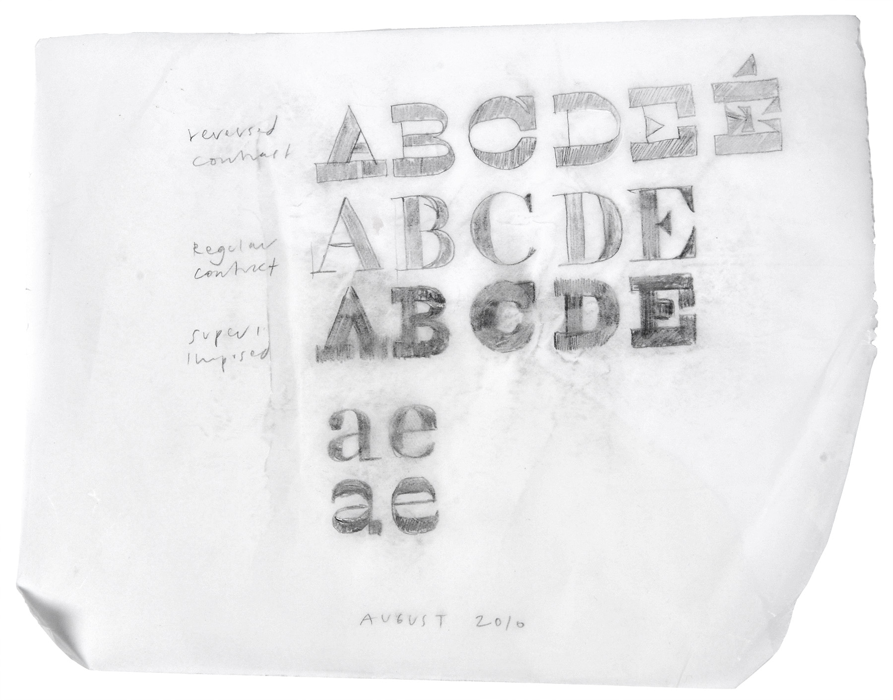 Karloff sketch, Peter Bi'lak, Typotheque, 2012
