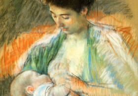 Mary Cassatt, Mother Rose Nursing Her Child