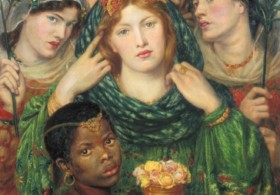 Dante Gabriel Rossetti, The Beloved ('The Bride'), 1865-6. Purchased with assistance from Sir Arthur Du Cros Bt and Sir Otto Beit KCMG through the Art Fund 1916 © Tate