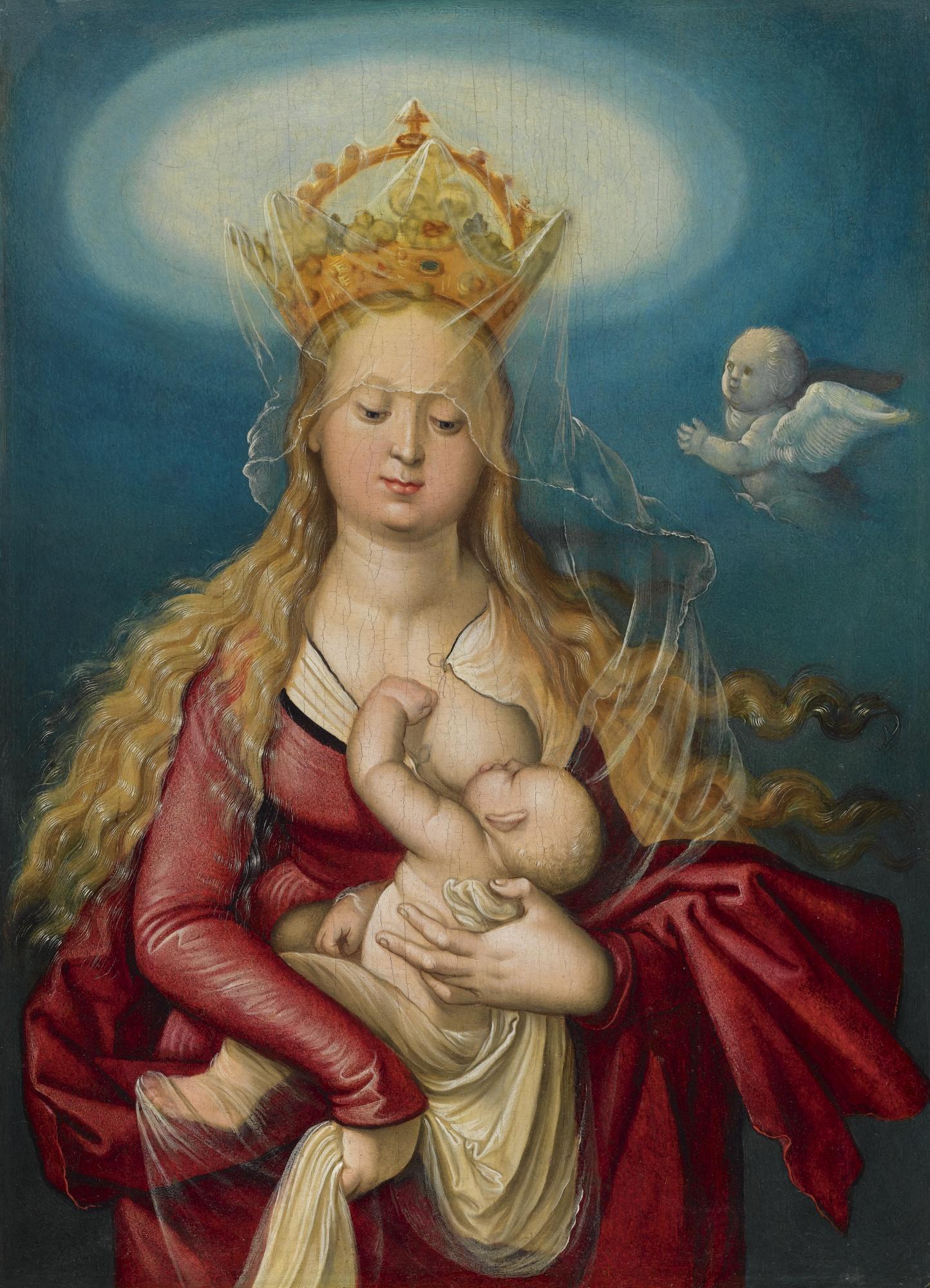 Hans Baldung, called Grien, The Virgin as Queen of Heaven Suckling the Infant Christ