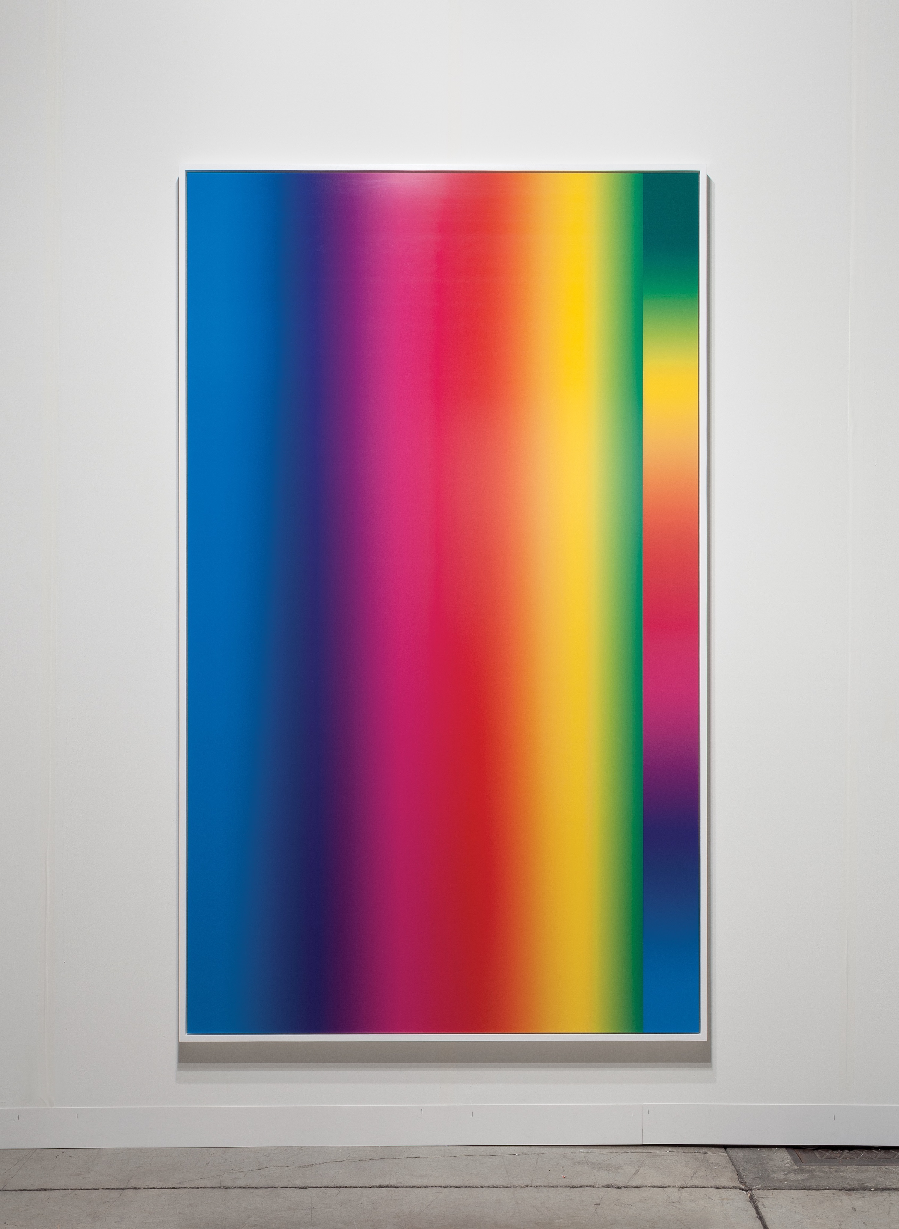 From the Photoshop Gradient Demonstration series, 2014 Cory Arcangel colour field glitch post internet stripes vibrant rainbow