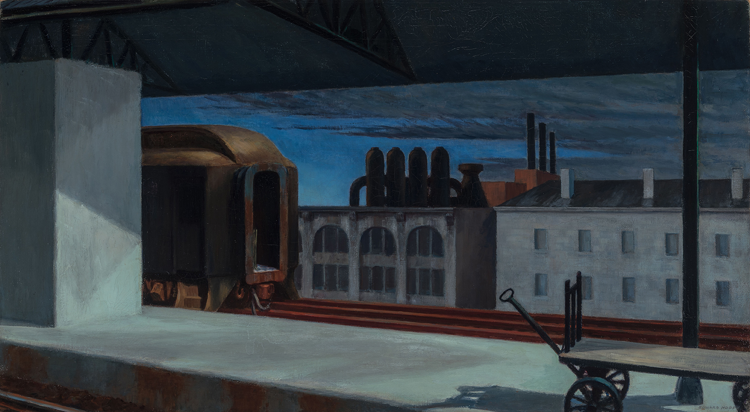 Edward Hopper, Dawn in Pennsylvania, 1942, on show in America's Cool Modernism at the Ashmolean until 22 July © Heirs of Josephine N. Hopper, licensed by the Whitney Museum of American Art