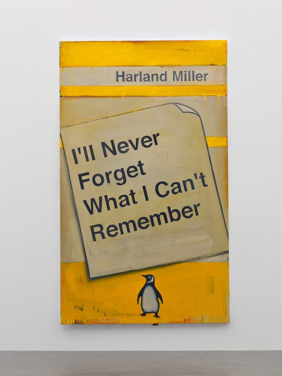 Harland Miller, I'll Never Forget What I Cant Remember, 2016