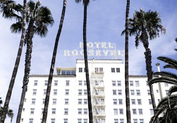 Hollywood Roosevelt Hotel; image by Jason Chang